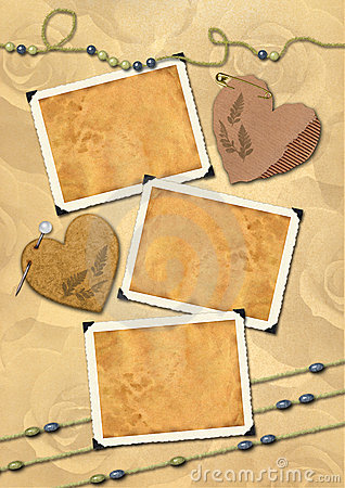 Free Photo Frameworks, Hearts, Beads. Royalty Free Stock Image - 6550146