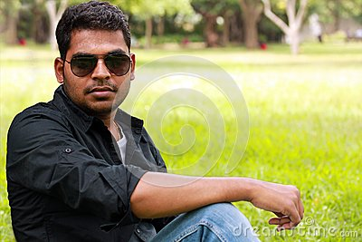 Photo of an handsome,stylish,casual & young indian