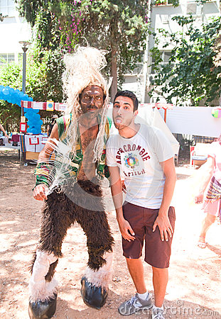 Photo with an Indian at Pride Parade Editorial Stock Image
