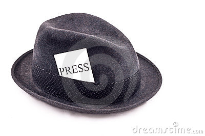 Photo journalist press hat