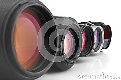 Photo lenses close-up