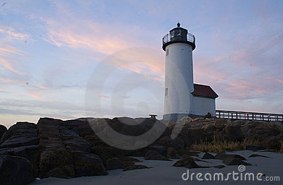 Photo of a Lighthouse in New England