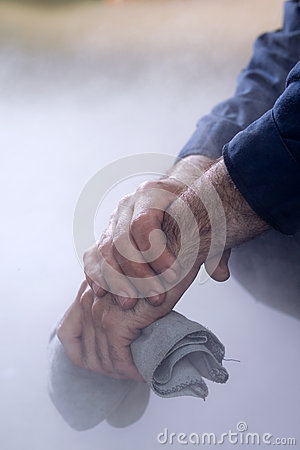 Photo of this man s hands