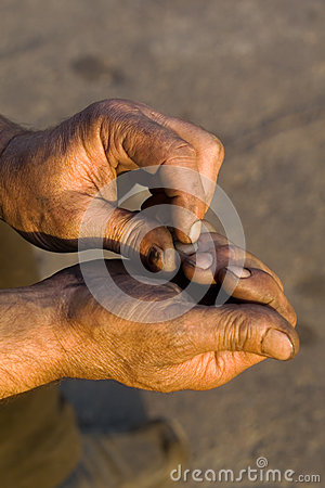Men s hands at work