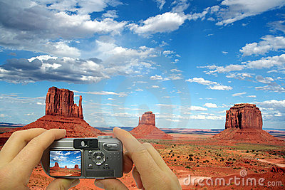 Photo Montage Monument Valley