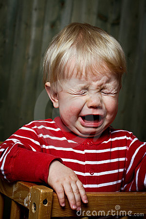 Photo of nine month baby crying