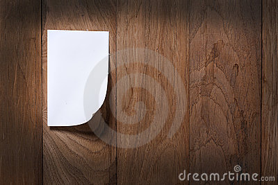 Photo paper attach wooden background