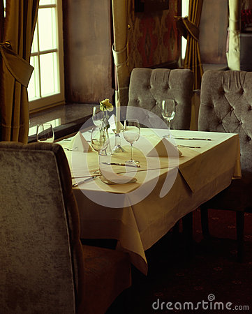 Photo presenting interior of luxury restaurant