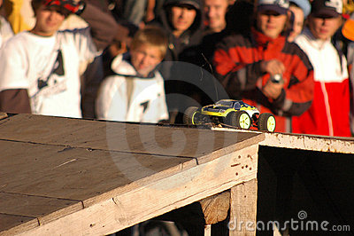 Photo - RC car preparing to jump