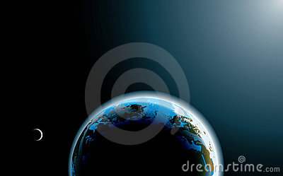 Photo-realistic planet Earth