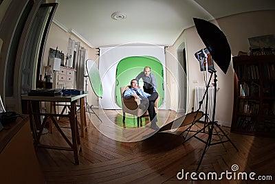 Photo session shot
