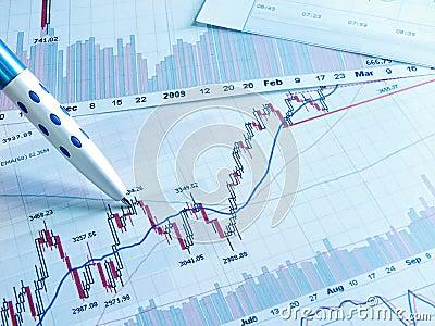 Photo showing stock chart