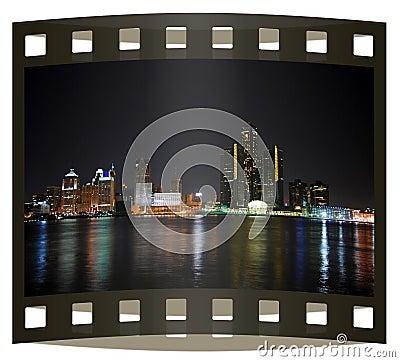 Free Photo Slide Of Detroit Skyline Royalty Free Stock Photo - 4348315