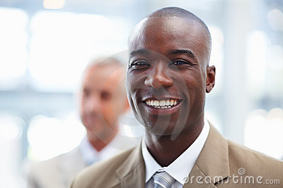 Photo of an smiling African American business man