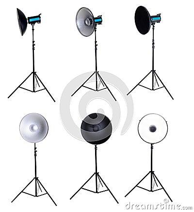 Photo studio equipment beauty dish isolated