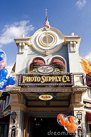 Photo Supply Co. Disneyland California Editorial Stock Image