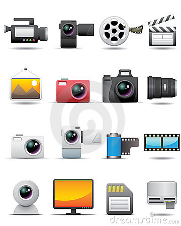 Free Photo, Video, Film Icons -- Premium Series Royalty Free Stock Photo - 9355355