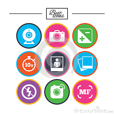 Free Photo, Video Icons. Camera, Photos And Frame. Royalty Free Stock Photography - 92774507