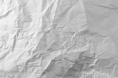 Photo white sheet of crumpled paper