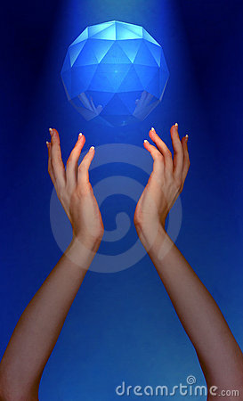 Photo of Womans Hands Reaching For Jewel Floating In Sky