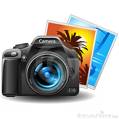 Free Photocamera With Pictures Royalty Free Stock Photography - 7337337