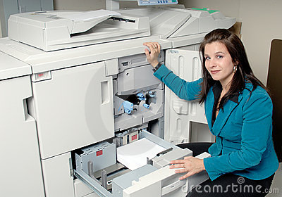 PhotoCopy Machine And Woman