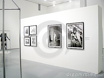 Photoexhibition of Veruschka in Moscow Editorial Stock Photo