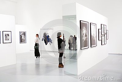 Photoexhibition of Veruschka in Moscow Editorial Stock Image