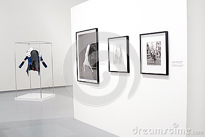 Photoexhibition of Veruschka in Moscow Editorial Photo
