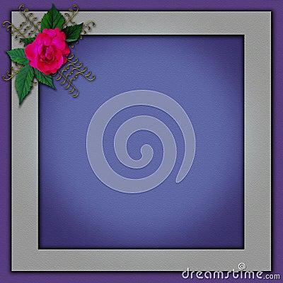 Photoframe elegante con un diseño de la flor