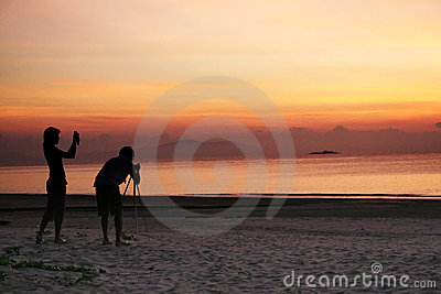 Photogaphing the sunrise