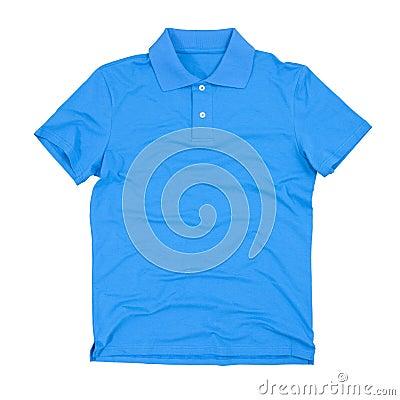 Photograph of blank polo shirt
