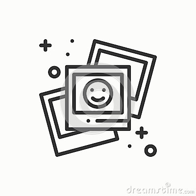 Free Photograph Line Outline Icon. Photo, Picture, Photography, Snapshot Sign. Vector Simple Linear Design. Illustration Stock Photography - 89744002