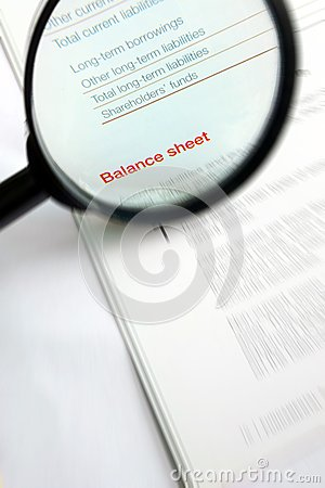 Studying fnance balance sheet