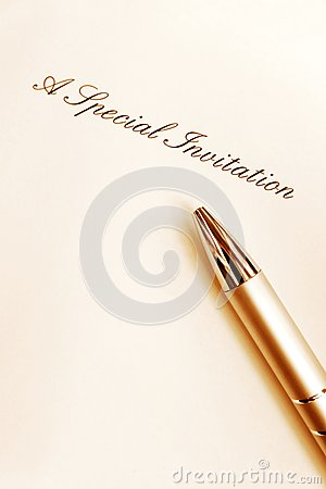 Writing special invitation card