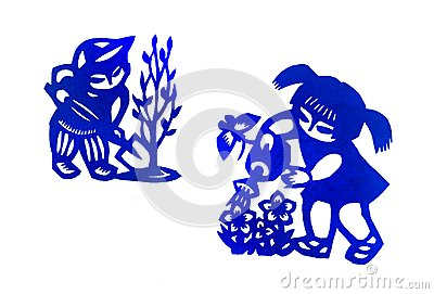 Traditional china paper cut children art