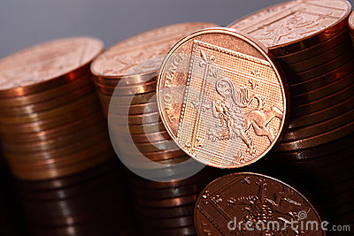 Two pence coins A
