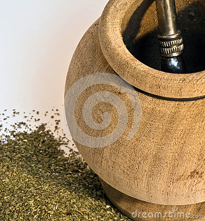 Traditional drink of South America (Yerba Mate)