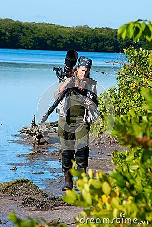 Photographe féminin de nature