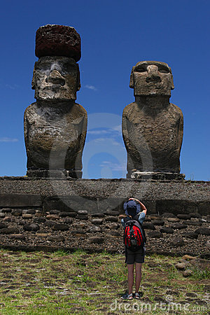 Photographed Moai