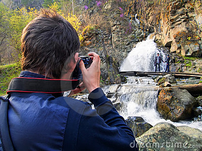 Photographer and the beautiful nature