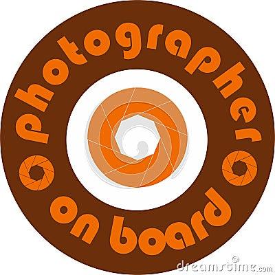 Photographer on board car sticker