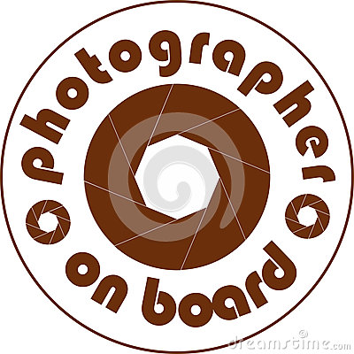 Photographer on board car sticker white