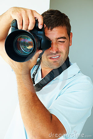A photographer busy at work