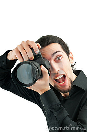 Photographer with the  camera