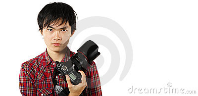 Photographer with copyspace