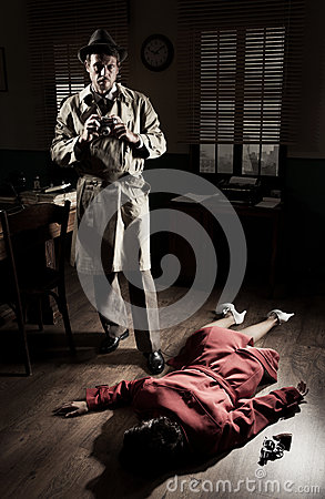 Photographer On Crime Scene Stock Photo - Image: 47055780