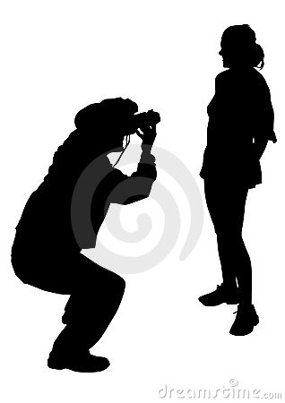 Photographer and girl