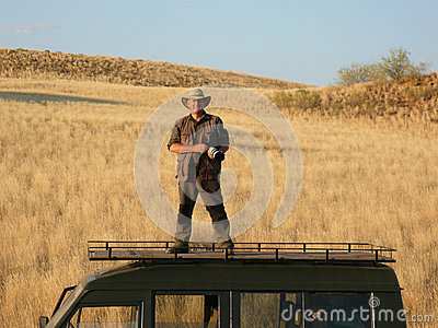 Photographer on Location - Damaraland - Namibia