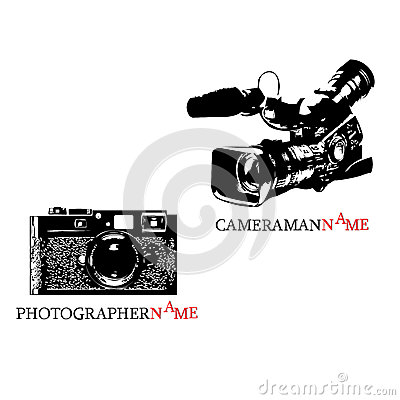 Photographer logo and cameraman logo